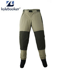 Kylebooker Breathable Fly Fishing Waders Pants Stocking Foot Wading Trousers
