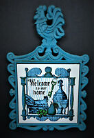 Welcome to our Home Cast Iron Tile Chicken Rooster Wall Decor Trivet Hot Plate