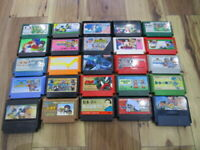 Nintendo Famicom Lot of 25 piece Dragon Quest Hokuto No KenZoids NES w607