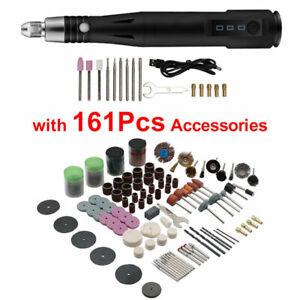 161PCS USB Mini Electric Grinder Drill Engraving Pen Grinding Rotary Tool Set UK