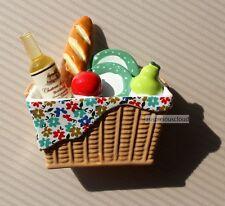 SOUVENIR 3D Resin Kitchen Fridge Magnet - A picnic basket of afternoon tea
