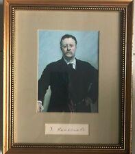 Theodore Roosevelt autographed framed presentation