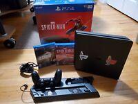 Sony PlayStation 4 Slim Limited Edition Marvel's Spider Man 1TB Red Console Bun…