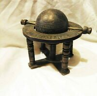 Antique Islamic Solid Brass Armillary Sphere Globe Style Tabletop Astrolabe