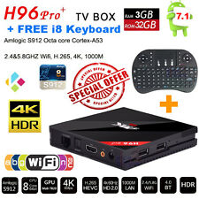 H96 Pro+ Octa Core 3G 32G 4K Android 7.1 TV Box Dual WiFi Free i8 Mouse Keyboard