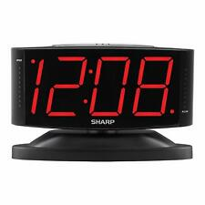 Digital Alarm Clock Easy to Read Large Numbers High Quality Swivel Base Black