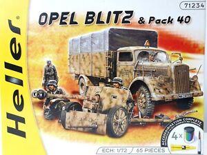 HELLER 1:72 Scale Model Kit Opel Blitz Pack 40 Anti-Tank Gun 65 Pieces 71234 New
