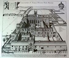 Winchester (Winton) College, Winchester, Wykehamists -  David Loggan Print