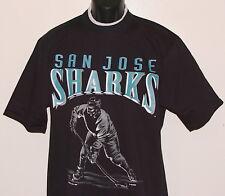 Vintage 1992 NHL San Jose SHARKS JOSTENS T-Shirt Black NWT NEW Old Stock M,L,XL