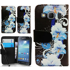 Floral Wallet PU Leather Case Cover Pouch For Samsung Galaxy Ace 4 SM-G357FZ