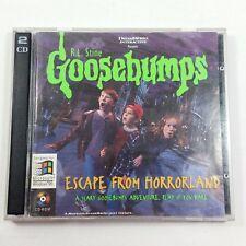 Goosebumps Escape from Horrorland PC 2 CD-Rom RL Stine 1996 DreamWorks Win 95