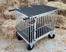 "Titan 1 Berth LARGE Aluminium Dog Show Trolley with 8"" All Terrain Wheels"