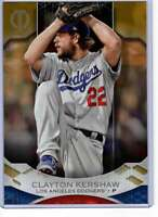 Clayton Kershaw 2019 Topps Tribute 5x7 Gold #24 /10 Dodgers