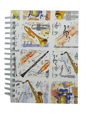 A6 Musical Instruments 2 Notebook - Music Themed Gift - Musical Notebook