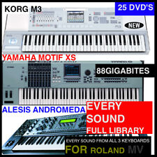 The BEST ROLAND MV-8800 MV-8000 KEYBOARD SAMPLES BUNDLE M3,XS,& ANDROMEDA