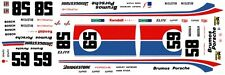 #59 OR #58 BRUMOS PORSCHE IMSA 1/64th HO Scale Decal Great for Slot Car