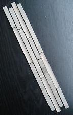 Marmor Glas Bordüre grau 4,6 x 30 x 0,8cm Fliese Mosaik Naturstein Bad Küche
