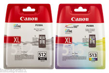 Canon PG512 & CL513 Black & Colour High Capacity Original OEM Inkjet Cartridges