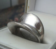 UNUSUAL Modernist Abstract Sterling Silver Ring  1970/80s  -  Size N