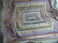 Beautiful Authentic Vintage Quilt Jewel Tones India Bedspread Bed Cover Blanket