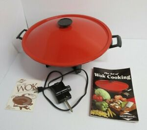 West Bend Electric Wok Model 79525 - RED