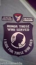 military biker patches 4 in all POW/MIA large patch 12 inch FREE SHIPPING