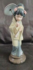 Vintage Lladro figurine Oriental Spring Japanese Geisha Girl Model No.4988 30 cm