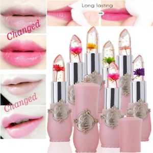Flower Jelly Gloss Lipstick Temperature Color Change Lip Balm Moisturizing