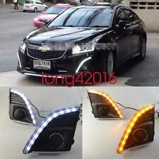 Exact Fit Chevrolet Cruze 2012-2015 Switchback LED DRL Lights Fog Lamp w/ Signal