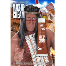 ROTBRAUNE FARBE # Karneval Fasching Schminke Make Up Indianer Kostüm Party 01153