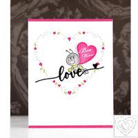 Love Heart Frame Metal Cutting Dies Stencil Handcrafts Paper Card Making Emboss