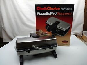 Chefs Choice International Pizzelle Pro Express Bake Toscano Maker 834 New OPNBX