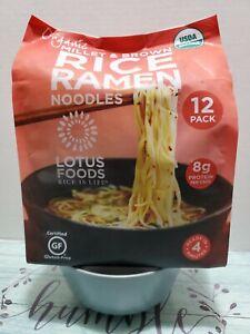 Millet & Brown Ramen Rice Noodles ORGANIC Lotus Foods 12 Pk 30 oz Gluten Free!