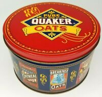 """Vintage 1983 Quaker Oats Limited Edition 7.25"""" Collectible Artwork All-Over Tin"""