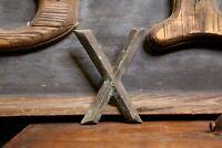 """Early Brass Letter """"X"""" Antique Trade Sign Folk Art Primitive emblem badge old"""