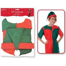 NEW MISS ELF COSTUME CHRISTMAS LADIES WOMEN'S XMAS FANCY DRESS PARTY OUTFIT