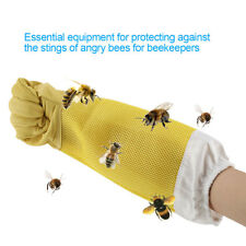 XL Beekeeping Gloves Goatskin Bee Keeping with Vented Beekeeper Long Sleeves S