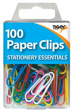 paper clips in assorted colours with hanging box (pack of 100)