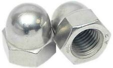 5 x Dome Hex Cap Nuts Metric - A2 Stainless Steel - M3-M16 - Domed DIN 1587 -SS8