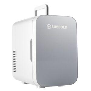 Subcold Ultra 6 Grey Cooler & Warmer   Small Bedroom Mini Fridge   AC/USB Power