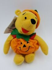 "Disney Mini Bean Bag Pumpkin Pooh 8"""