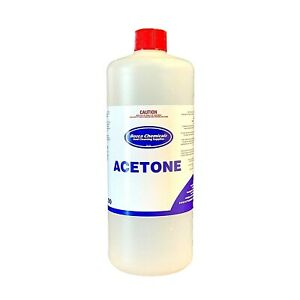 Acetone 100% 1L - Pure Remove Gel Acrylic Nail Polish Remover 1L