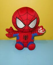 "10"" Ty Beanie Babies 96299 Marvel Avengers Spiderman Spider-Man Buddy Plush"