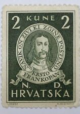 Croatia stamp-SCOTT 57-1943 FRAN KRSTO-DARK GREEN-MINT/LH/ORIGINAL GUM