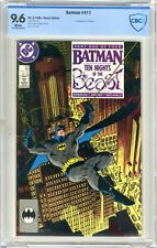Batman  #417  CBCS  9.6  NM+  White pages  3/88  1st App. of KGBeast Direct Edtn