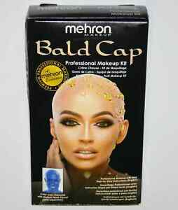 Bald Cap Kit professional theatrical movie character instructions Mehron makeup