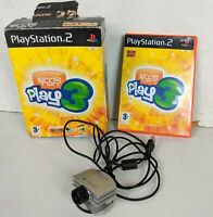 Eye Toy Play 3 + USB EYETOY Camera Box Set for Sony PlayStation 2 PS2, 50 Games
