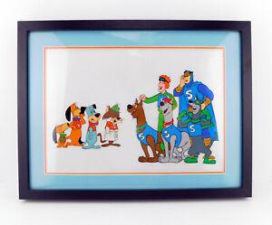 HANNA BARBERA Cel Laff-A-Lympics Production cels Blue Falcon Scooby Doo