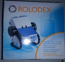Rolodex Open Rotary Business Card File - Black, Black