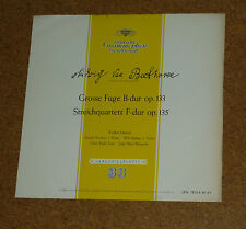 LP Beethoven Quartetto String Violin Koeckert Merz Riedl dgg lpm 18154